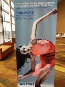 Världskongress i Singapore för smärta i bäcken och ländrygg.